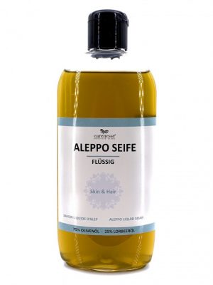 Aleppo, Fluessigseife, 250ml, Naturseife, Lorbeeroel, Olivenoelseife