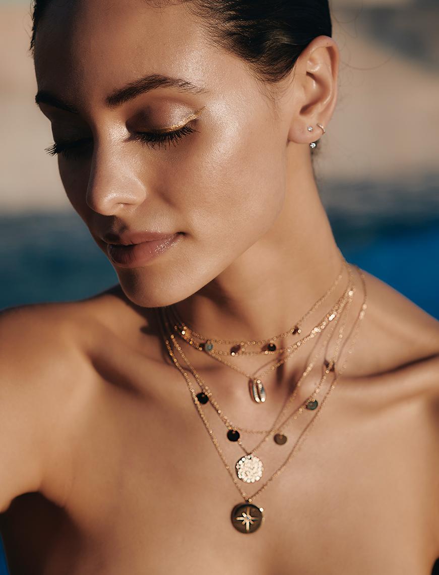 Filigrane Ketten, Armbänder, Ohrringe & Ringe in Gelbgold vergoldet, Roségold vergoldet oder in Silber/ Sterlingsilber.