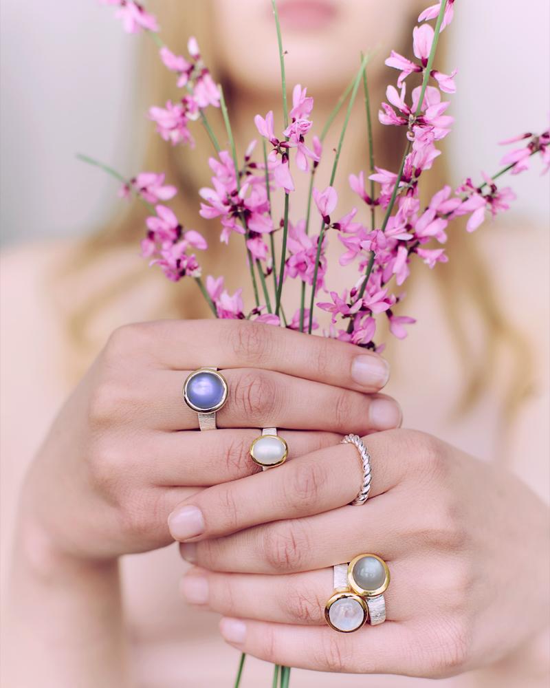 imperla Edelstein Silber Ringe